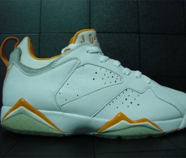 Sample Air Jordan Vii  Low White Citrus