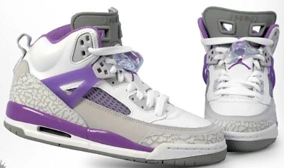 Air Jordan Spizike (GS) - White / Violet - Grey