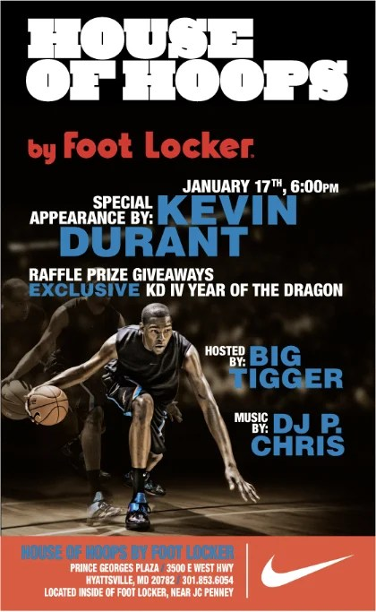 kevin durant to launch nike zoom kd iv yotd at maryland house of hoops fitforhealth