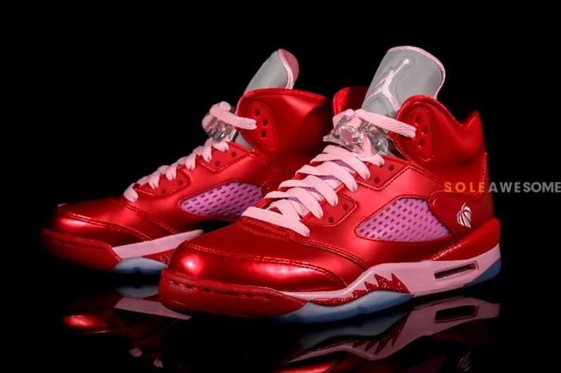 Air Jordan V 5 GS Valentines Day New Images