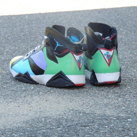 7 Black Jordan Blue And
