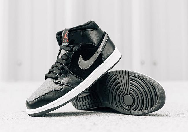 Air Jordan 1 Mid Winter Black Wool SneakerFiles