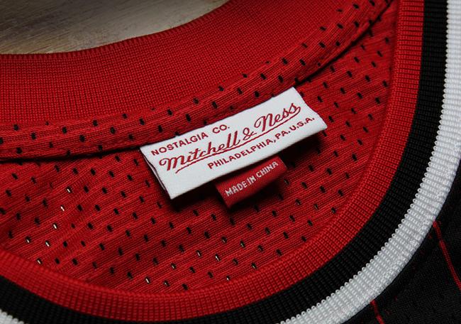 Michael Jordan 1996-97 Black Pinstripe Jersey Mitchell Ness