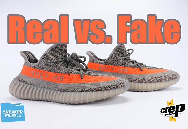 Real Fake Unauthorized adidas Yeezy Boost 350 V2 Beluga