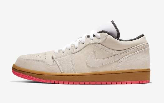 Air Jordan 1 Low Beige Pink 553558-119 Release Date