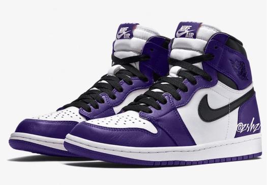 Air Jordan 1 Court Purple 555088-500 2020 Release Info