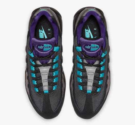 Nike Air Max 95 Black Grape Black Court Purple Teal Nebula AO2450-002 Release Date Info