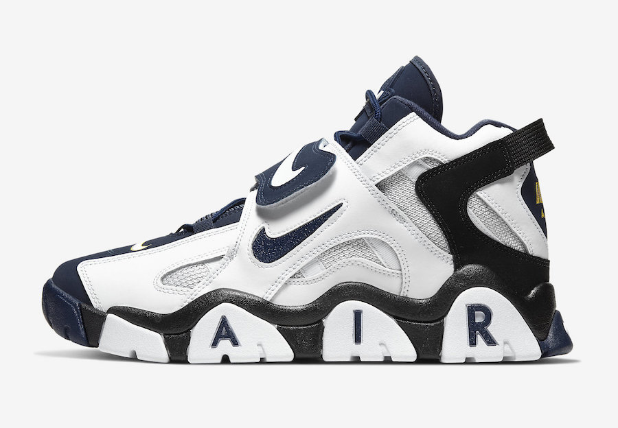 Nike Air Barrage Mid Midnight Navy AT7847-101 Release Date Info