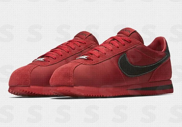 Kendrick Lamar Has An All Red Suede Damn Nike Cortez Collab On The Way!
