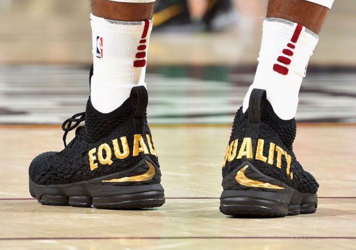 LeBron James Debuts The Nike LeBron 15 Equality PE On Opening Night Against The Boston Celtics!