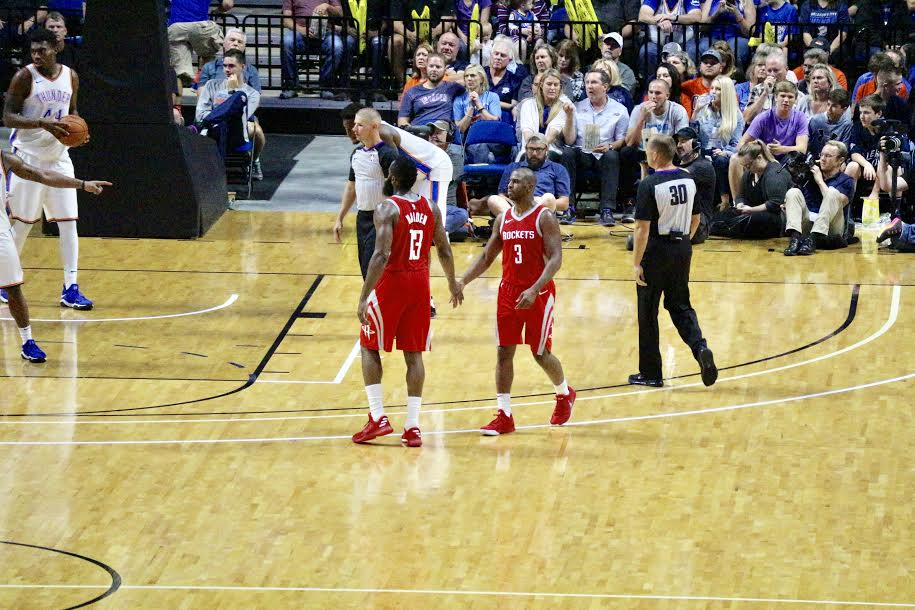 Recap: OKC Thunder Fall To The Houston Rockets (104-97) In 1st Preseason Game With Melo & PG