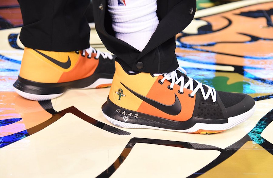 release date c2d87 570af Kyrie Irving Debuts Brand New Nike Kyrie 3 Raygun PE!