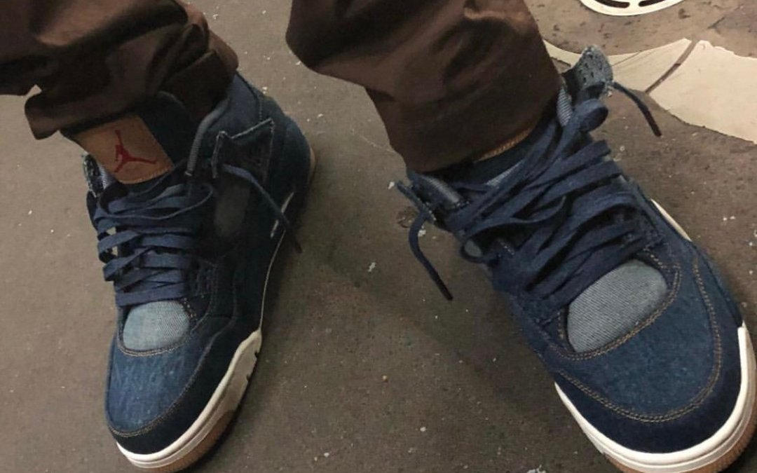 The Air Jordan 4 x Levi Denim Collab Is Rumored To Be Dropping On January 17th!