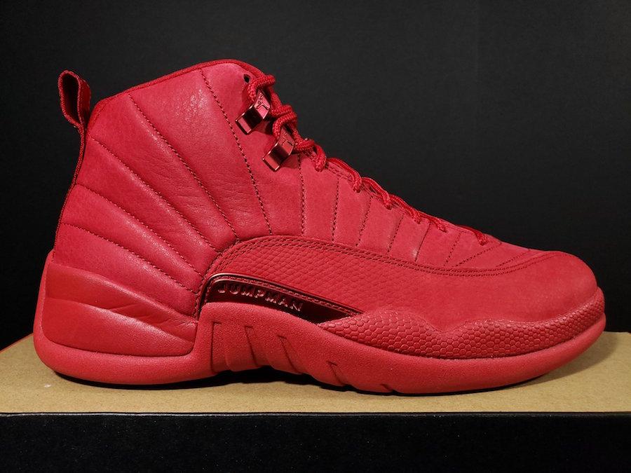 the all red jordan 12