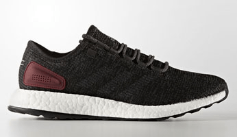 adidas Pure Boost Black/Black/Burgundy