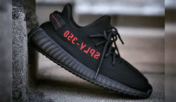 adidas Yeezy Boost 350 V2 Core Black/Core Black-Solar Red