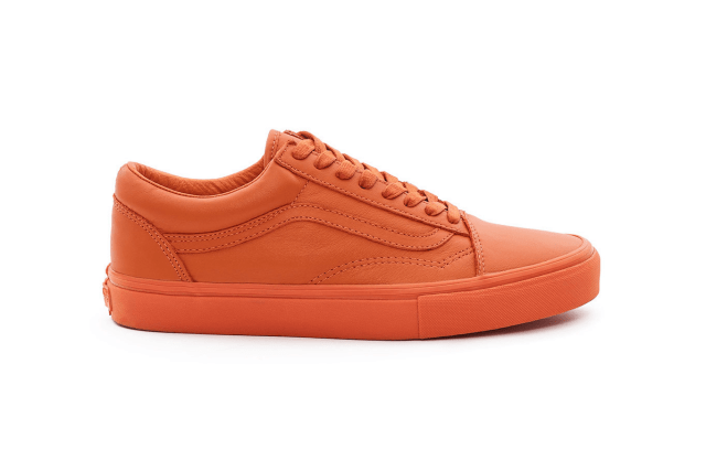 "Opening Ceremony x Vans Old Skool ""Leather Mono"" Harvest Pumpkin"