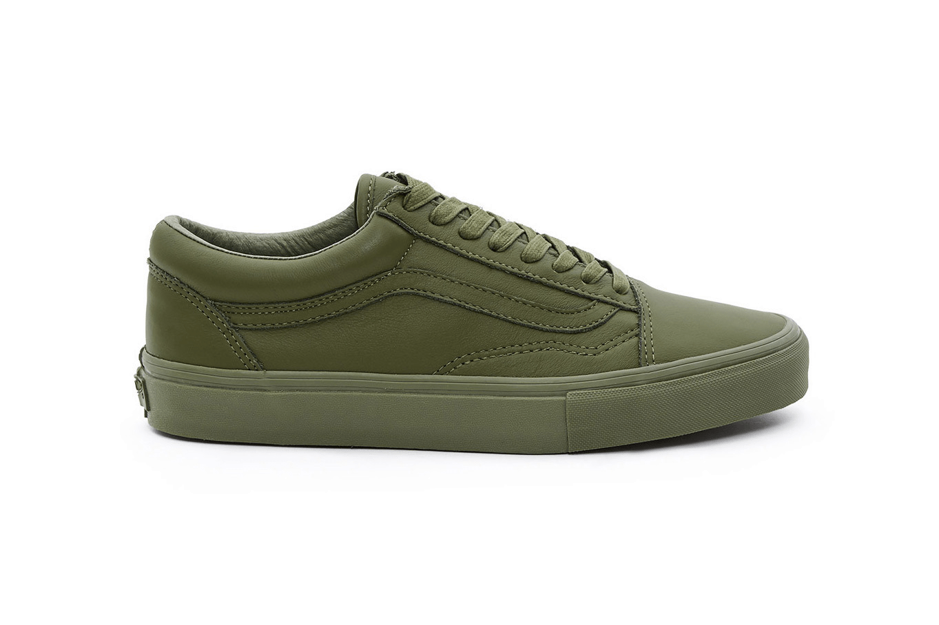 "Opening Ceremony x Vans Old Skool ""Leather Mono"" Chive"