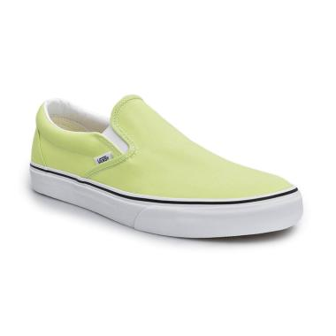 Vans UA Classic Slip-ON Sharp Sepatu Sneaker Pria - Green/True White