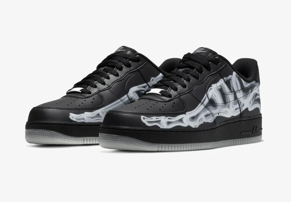 Release Date: Nike Air Force 1 Skeleton 'Black'