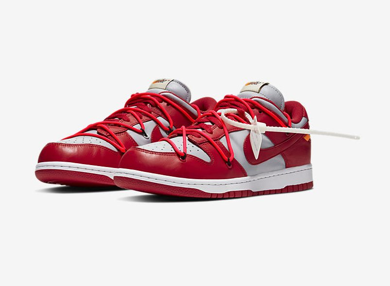 Release Date: Off-White x Nike Dunk Low 'University Red'