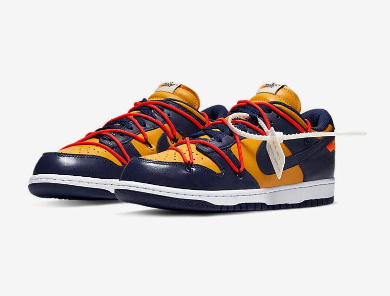 Release Date: Off-White x Nike Dunk Low 'Midnight Navy/Varsity Maize'