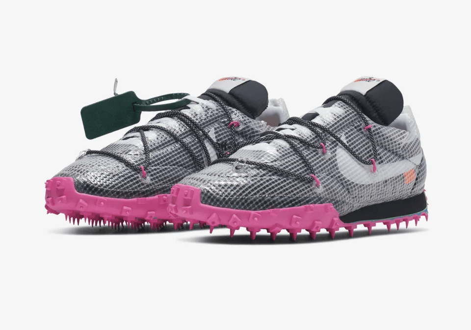 Off-White x Nike Women's Waffle Racer 'Black/Fuchsia'December 12, 2019