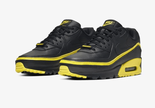 UNDEFEATED x Nike Air Max 90 Black/Opti Yellow
