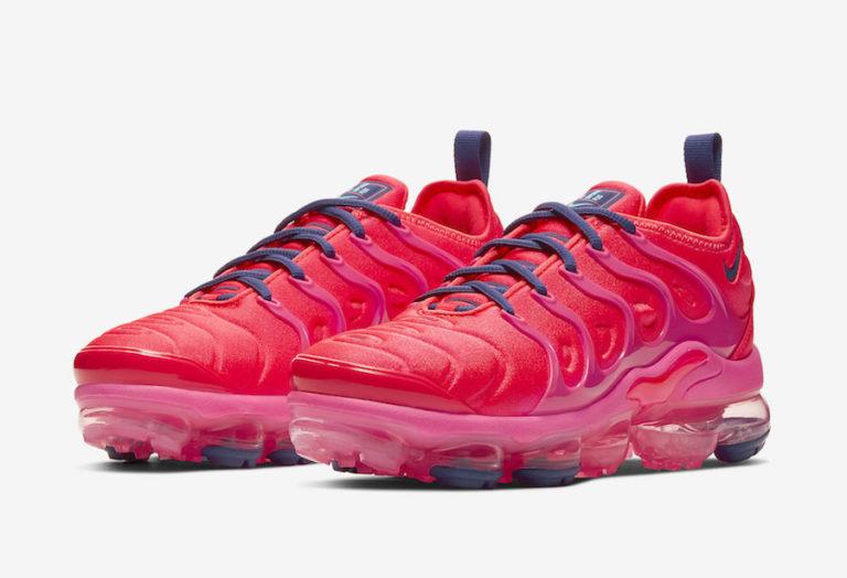 Nike Women's Air VaporMax Plus 'Bright Crimson/Pink Blast'