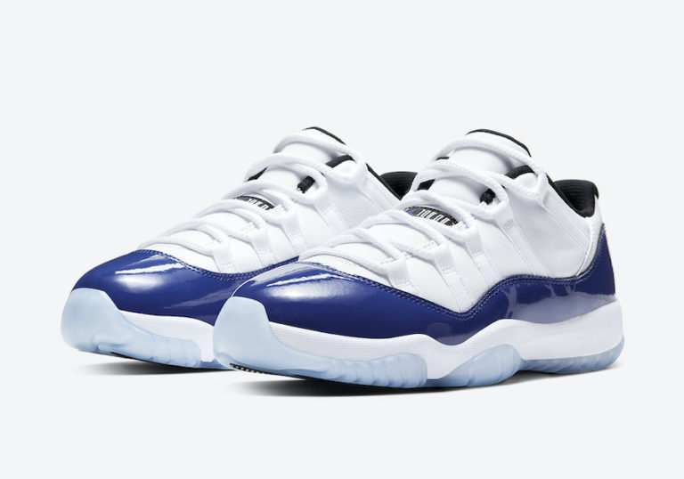 Women's Air Jordan 11 Low White/Concord