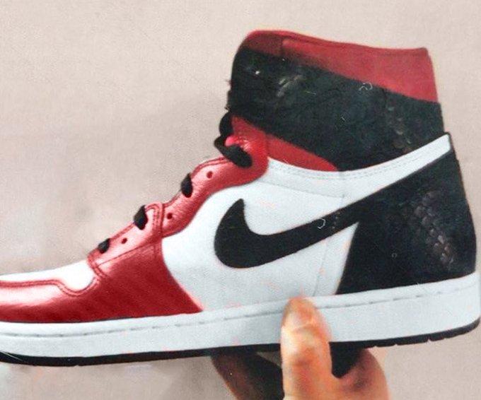 First Look: Air Jordan 1 High 'Satin Snakeskin'