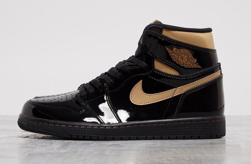 Air Jordan 1 High Black/Metallic Gold