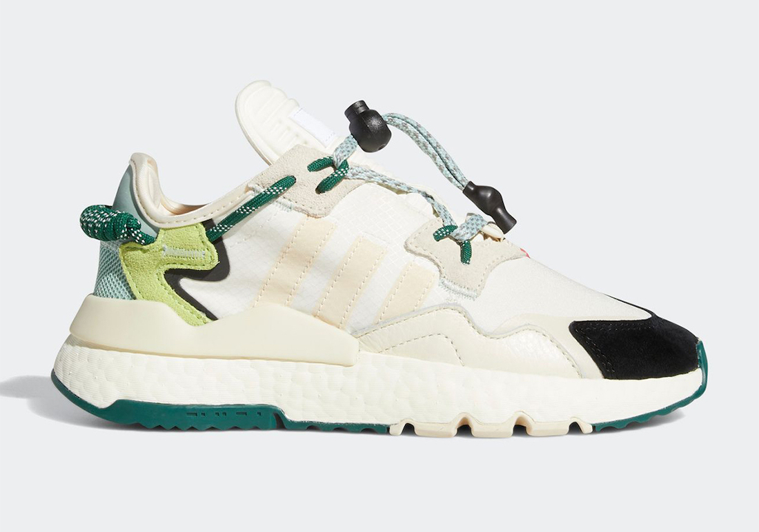 Ivy Park x adidas Nite Jogger 'Off White/Dark Green'October 30, 2020