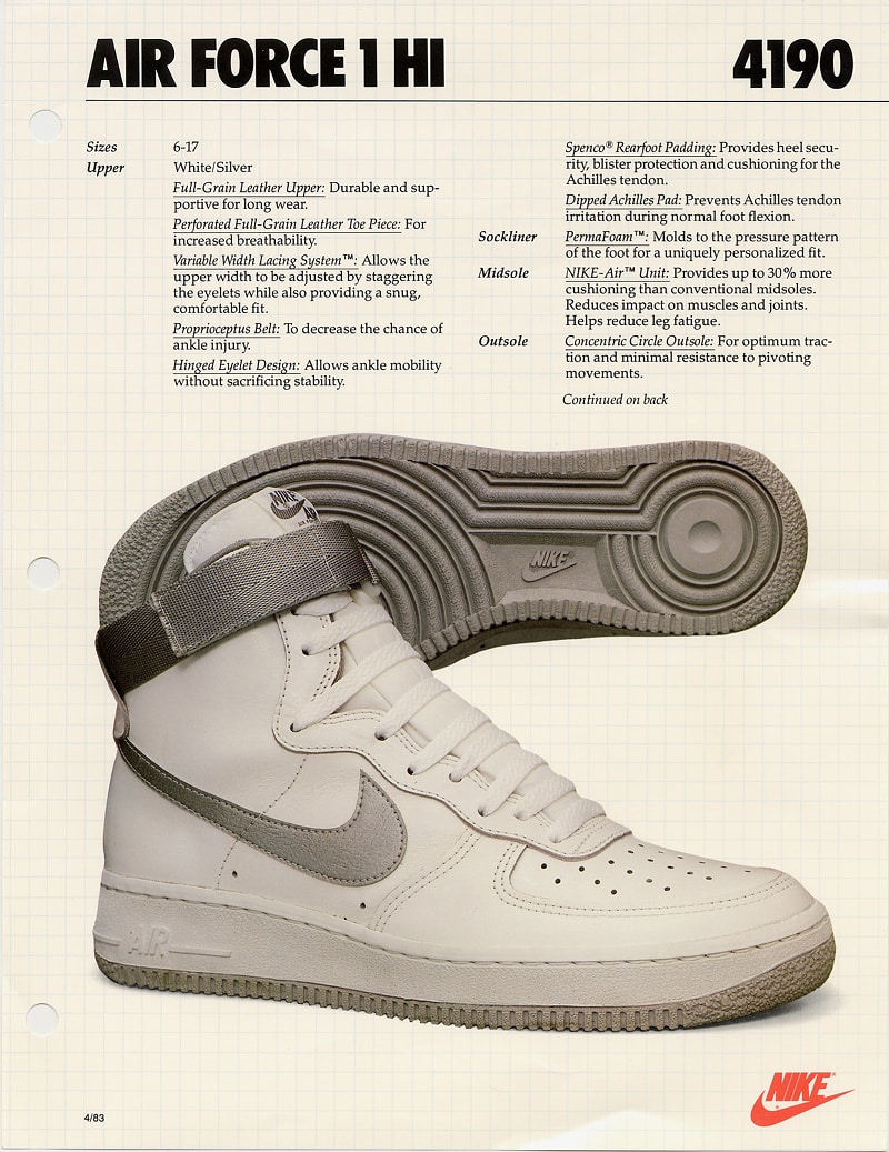 La manuel des propriétaires de la Nike Air Force 1