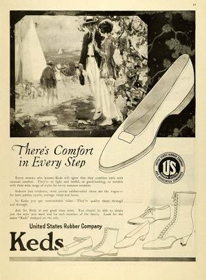 Publicité pour Keds datant des années 1910
