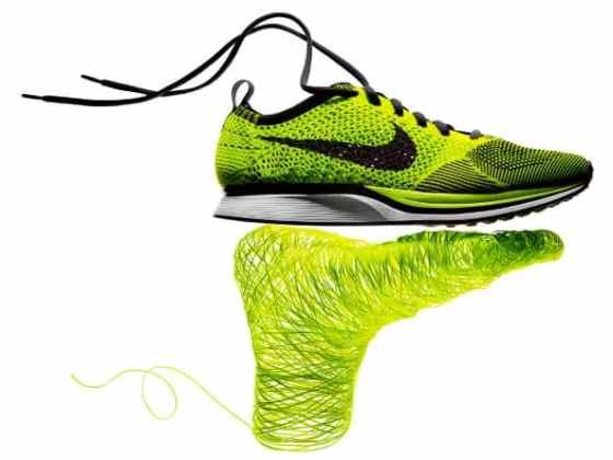 Infographie sur la technologie Flyknit de Nike