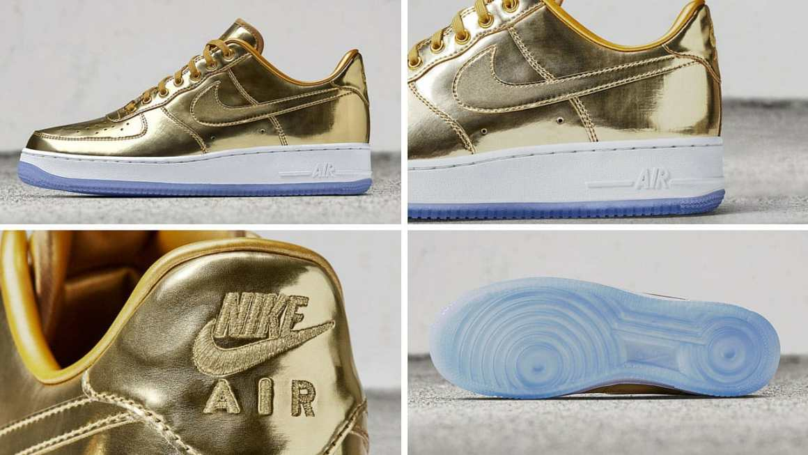"Nike Air Force 1 gold ""Unlimited Glory"""