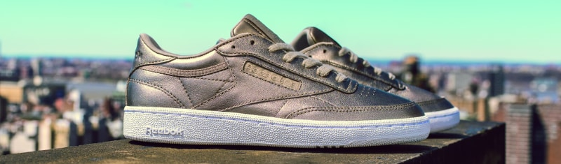 Gigi Hadid, Reebok Club C 85 Melted Metals