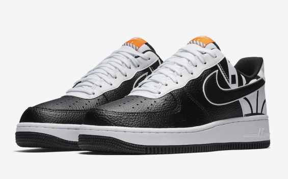 "Nike Air Force 1 Low ""FORCE"" Logo Pack noir et blanc"