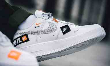 """Nike Air Force 1 """"Just Do It"""" blanche"""