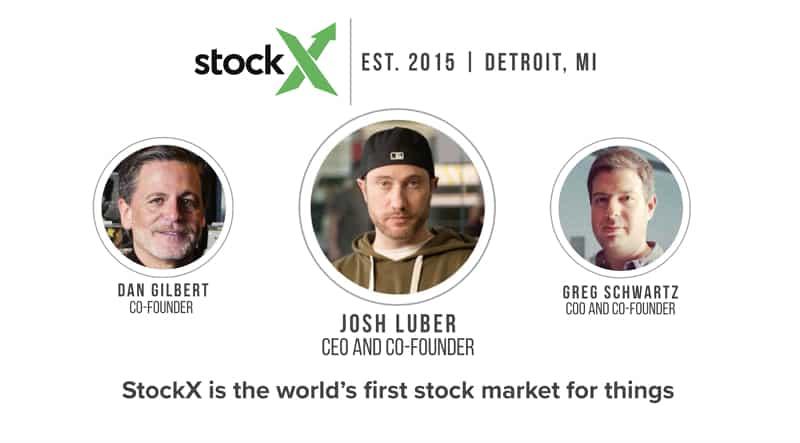 Les 3 co-fondateurs de StockX