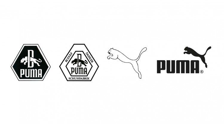 Les principales évolutions du logo de PUMA
