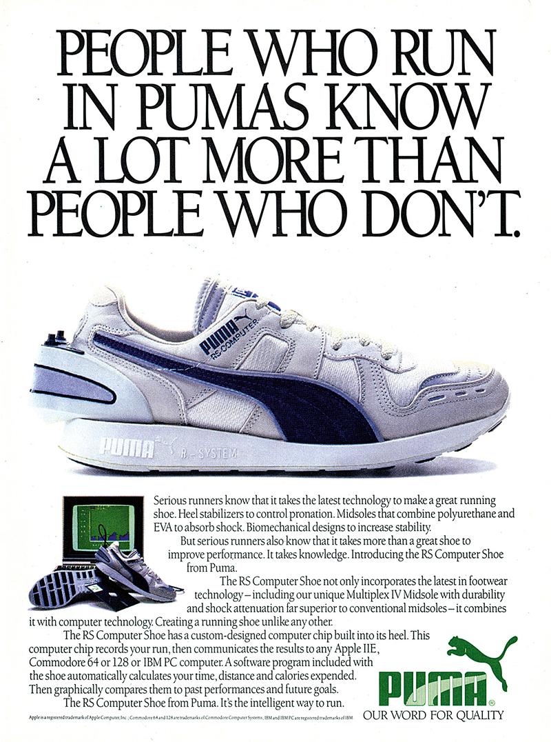 PUMA RS Computer Shoe - 1986
