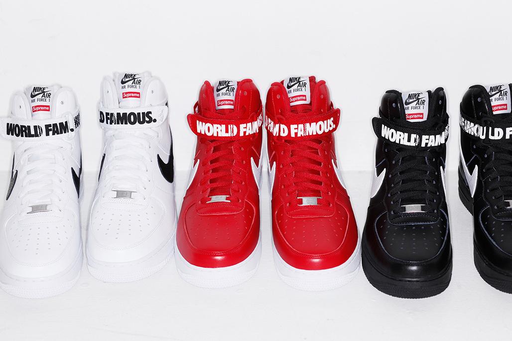 SUPREME x Nike Air Force 1 High ''World Famous''