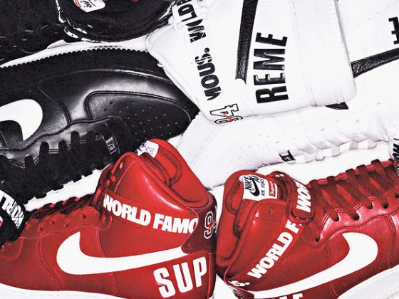 SUPREME x Nike Air Force 1 High ''World Famous'' Pack