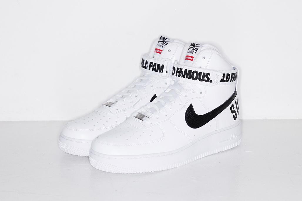 SUPREME x Nike Air Force 1 High ''World Famous'' - White
