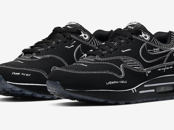 Nike Air Max 1 Tinker ''Schematic'' Black