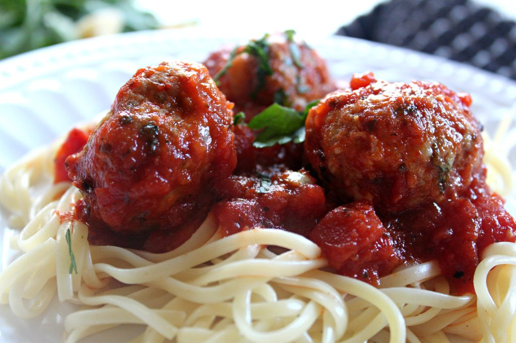 sneaky spaghetti and meatballs