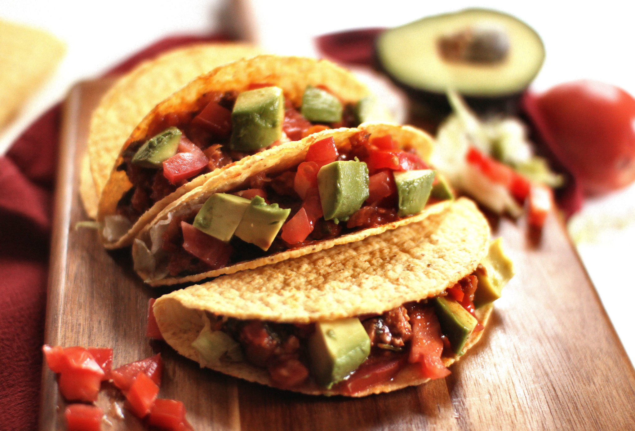 Chicken Tacos - Loaded with Veggies