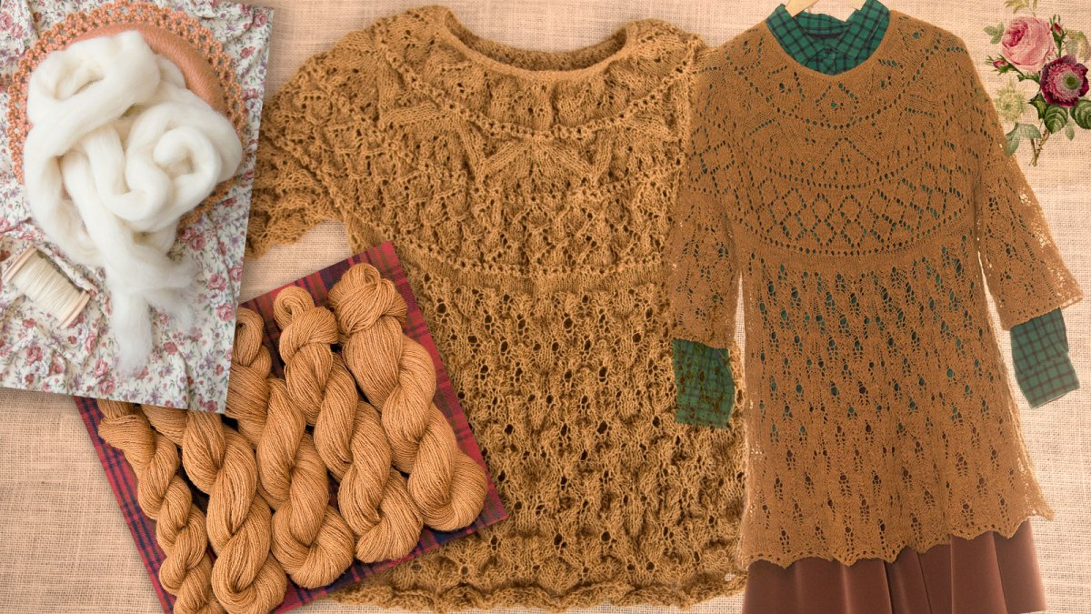 Project #2: Mixed wool hickory gossamer pullover from farm to fashion.